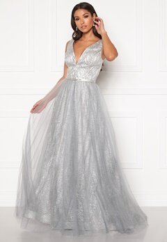 SUSANNA RIVIERI Stardust Gown Silver Bubbleroom.dk