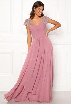 SUSANNA RIVIERI Sweetheart Chiffon Dress Rose Bubbleroom.dk