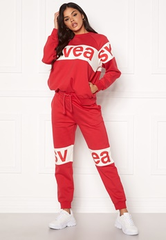 Svea 2 Col Big Svea Logo Sweat Pants 400 Red Bubbleroom.dk