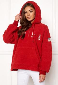 Svea Ophelia Pile Hood Bright Red Bubbleroom.dk