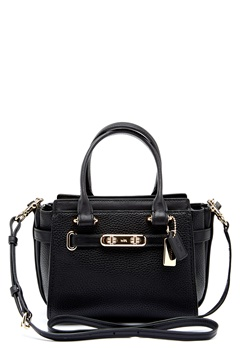 COACH Swegger Leather Bag LIBLK Black Bubbleroom.dk