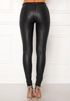 SELECTED FEMME Sylvia Leather Legging Black Bubbleroom.dk