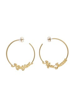 The Marc Jacobs The Logo Hoops Small 710 Gold Bubbleroom.dk