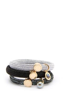 The Marc Jacobs The Medallion Abalone Elastics 002 Black Multi/Gold Bubbleroom.dk