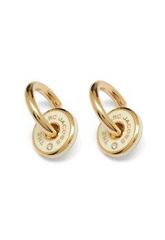 The Marc Jacobs The Medallion Hoop Earrings 001 Black/Gold bubbleroom.dk
