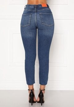 the Odenim O-Crop Jeans 02 Midblue Bubbleroom.dk