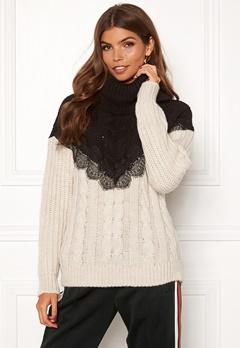 TIFFOSI Lacey Sweater 110 Beige Bubbleroom.dk