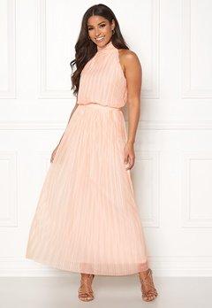 VILA Tippy S/L Maxi Dress Silver Peony Bubbleroom.dk