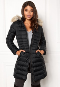 TOMMY JEANS Basic Down Coat Black beauty Bubbleroom.dk