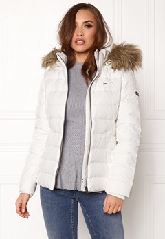 TOMMY JEANS Basic Down Jacket Snow white Bubbleroom.dk