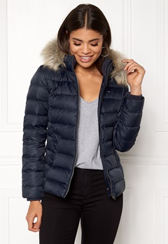 TOMMY JEANS Basic Down Jacket Total eclipse Bubbleroom.dk