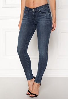 TOMMY JEANS Mid Rise Skinny Nora Dynamic new blue Bubbleroom.dk