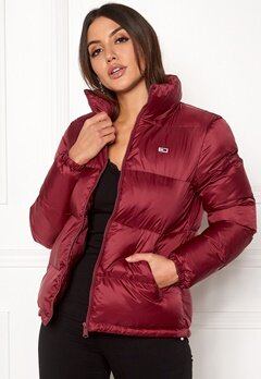 TOMMY JEANS Classics Puffa Jacket Rumba Red Bubbleroom.dk