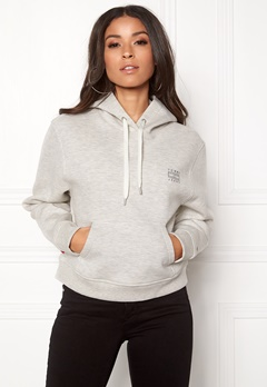TOMMY JEANS Clean Hoodie 000 Light Grey HTR Bubbleroom.dk