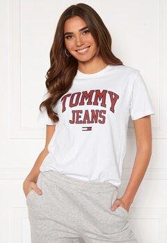 TOMMY JEANS Collegiate Logo Tee YBR White Bubbleroom.dk