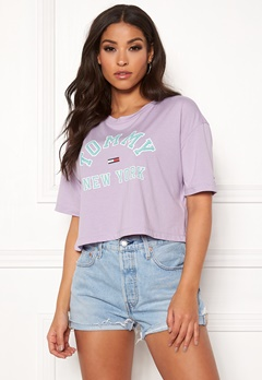 TOMMY JEANS Collegiate Tee 575 Pastel Lilac Bubbleroom.dk