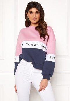 TOMMY JEANS Colorblock Sweatshirt 901 Black Iris/Multi Bubbleroom.dk