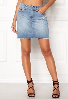 TOMMY JEANS Denim Skirt 911 Bleep Light Blue Bubbleroom.dk