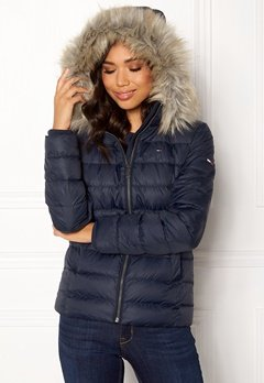TOMMY JEANS Essential Down Jacket 002 Black Iris Bubbleroom.dk