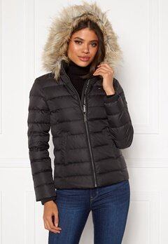 TOMMY JEANS Essential Down Jacket 078 Tommy Black Bubbleroom.dk