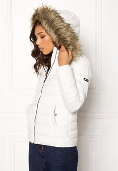 TOMMY JEANS Essential Down Jacket 116 Snow White Bubbleroom.dk