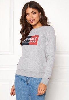 TOMMY JEANS Essential Logo Sweatshirt 038 Lt Grey Bubbleroom.dk