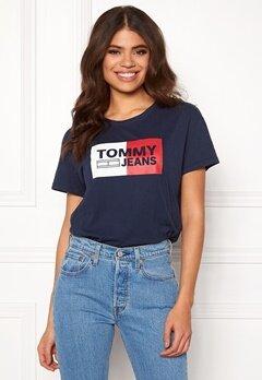 TOMMY JEANS Logo Tee 002 Black Iris Bubbleroom.dk
