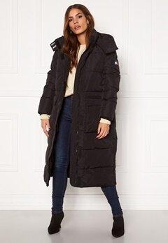TOMMY JEANS Oversize Modern Puffa Coat BDS Black Bubbleroom.dk