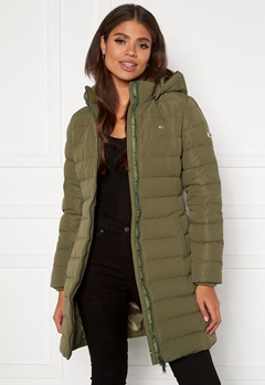 TOMMY JEANS Quilted Down Coat MSQ Olive Tree Bubbleroom.dk