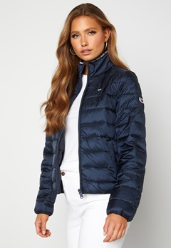 TOMMY JEANS Quilted ZipThrough Twilight Navy Bubbleroom.dk