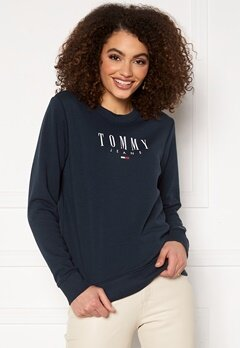 TOMMY JEANS Regular Essential Logo Twilight Navy Bubbleroom.dk