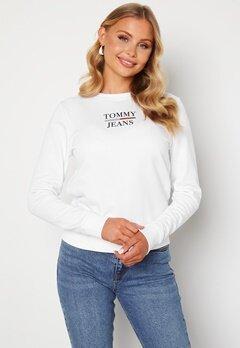 TOMMY JEANS Slim Terry Sweatshirt YBR White Bubbleroom.dk