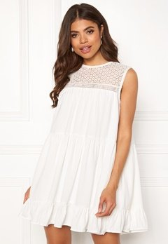 TOMMY JEANS Summer Sleeveless Lace Dress 100 Classic White Bubbleroom.dk