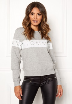 TOMMY JEANS Sweatshirt 000 Light Grey Bubbleroom.dk