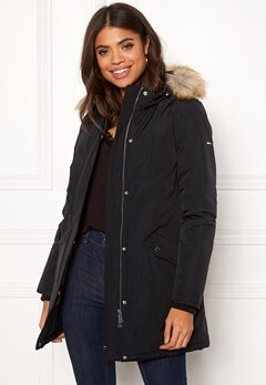 TOMMY JEANS Technical Down Jacket Tommy Black Bubbleroom.dk