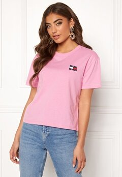 TOMMY JEANS Tommy Badge Tee 579 Lilac Chiffon Bubbleroom.dk