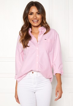 TOMMY JEANS Tommy Classics Shirt 612 Oxford Pink Bubbleroom.dk