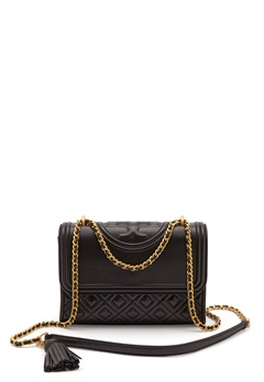TORY BURCH Flemming Quilted Leather 001 Black Bubbleroom.dk