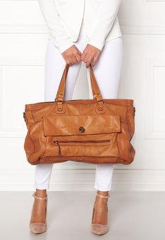 Pieces Totally Royal Travel Bag Cognac Bubbleroom.dk