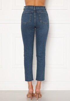 Trendyol High Waist Ankle Jeans Mavi/Blue Bubbleroom.dk