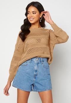 Trendyol Knitted Sweater Camel Bubbleroom.dk