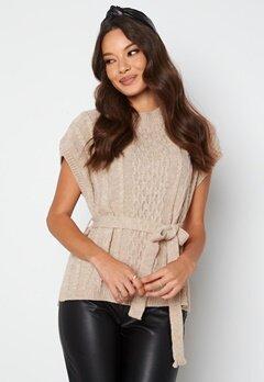 Trendyol S/S Knitted Sweater Stone bubbleroom.dk