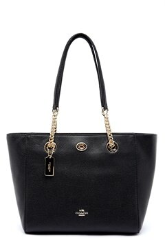 COACH Turn Lock Leather Bag LIBLK Black Bubbleroom.dk