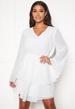 Rut & Circle Tuva Frill Dress White Bubbleroom.dk