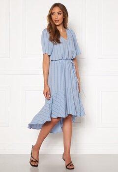 Twist & Tango Alexa Dress Dusty Blue Logo Bubbleroom.dk