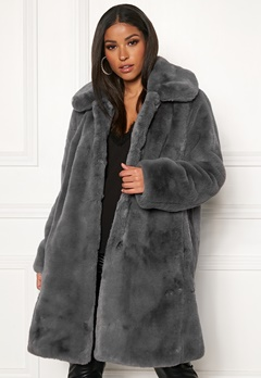Twist & Tango Birgit Faux Fur Coat Dove Bubbleroom.dk