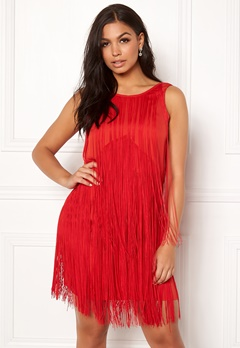 Twist & Tango Clair Fringe Dress Raspberry Bubbleroom.dk