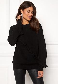 Twist & Tango Sonja Frill Sweater Black Bubbleroom.dk