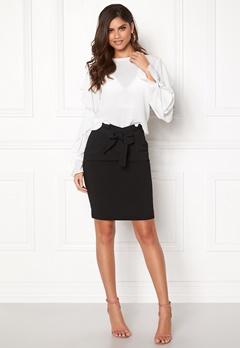 ICHI Udele Skirt Black Bubbleroom.dk