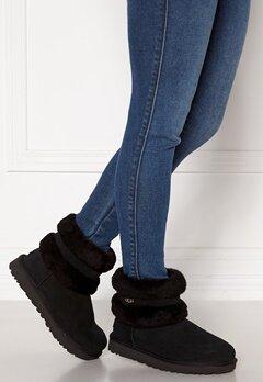UGG Fluff Mini Belted Boots Black Bubbleroom.dk